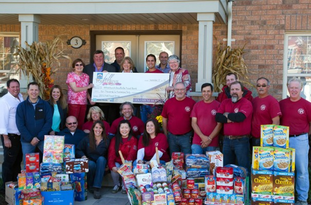 Geranium Homes Food Bank Donation