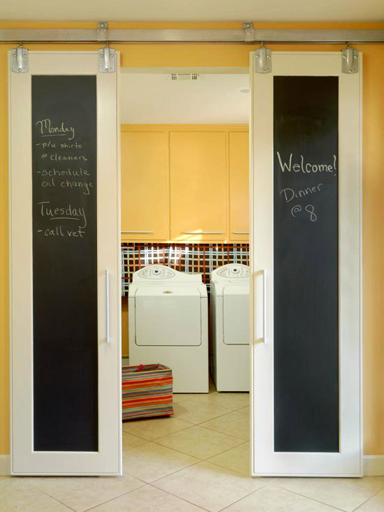 Adding a chalkboard creates the ideal message centre.