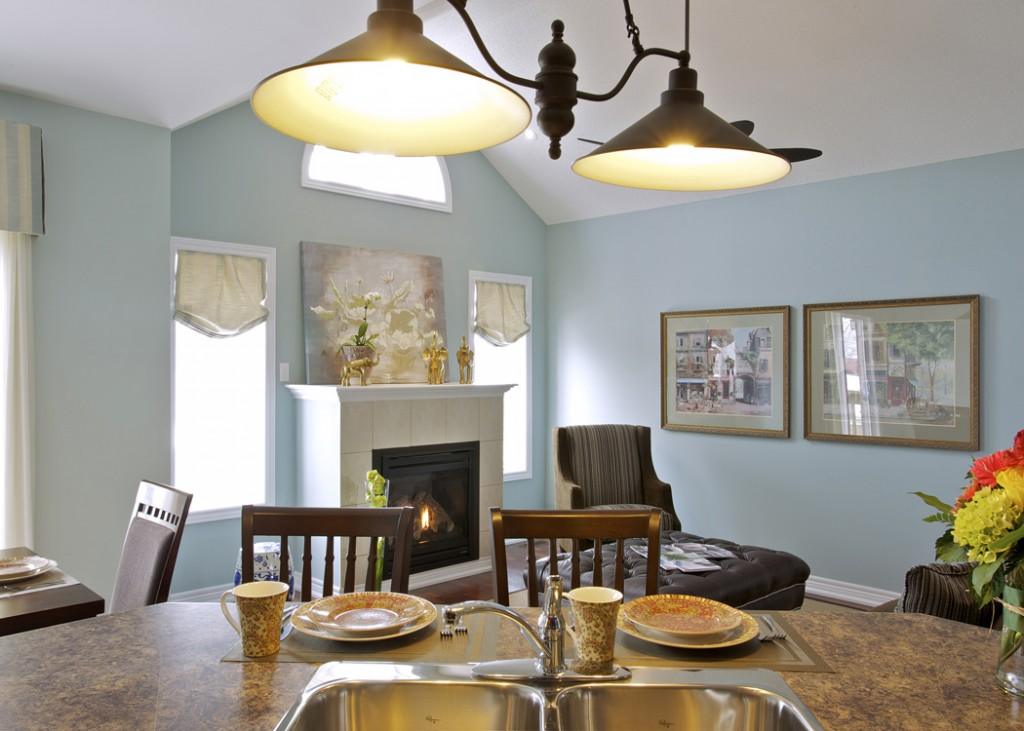 Consider lighting before choosing your paint colours