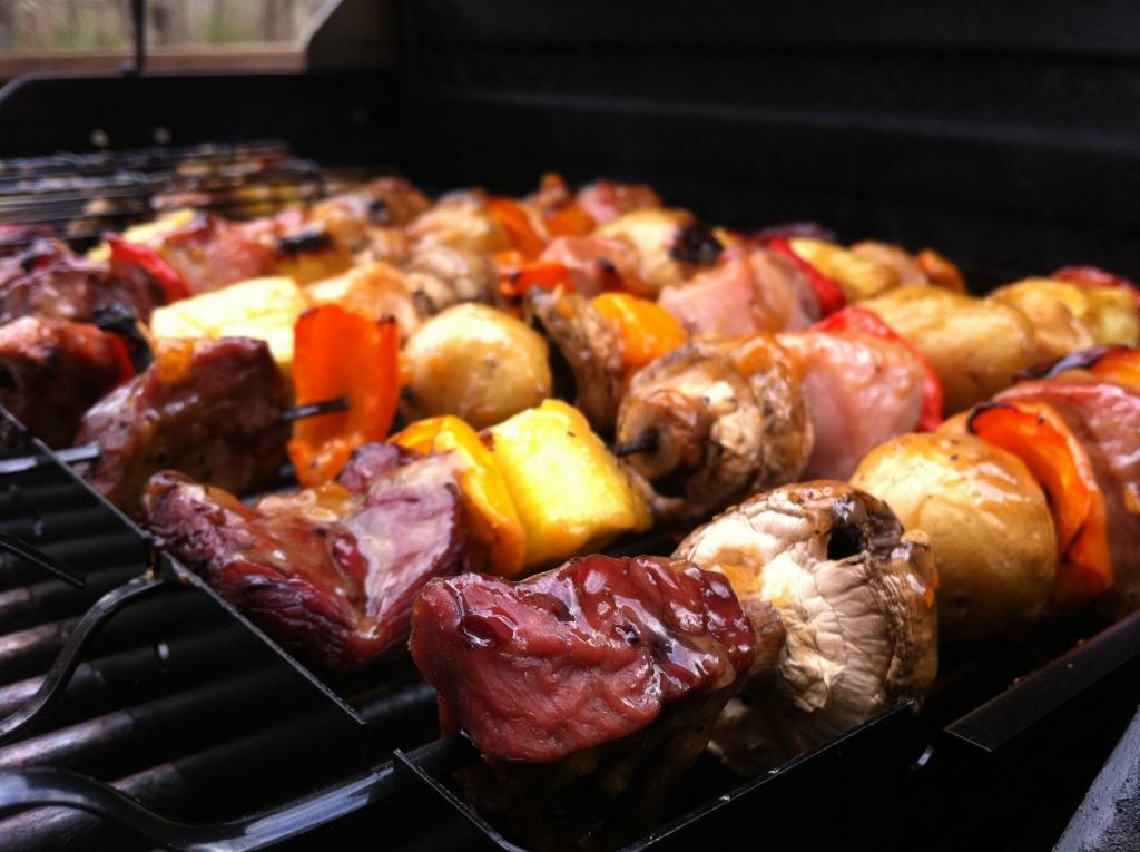 shish kebab, barbecue, barbeque, bbq