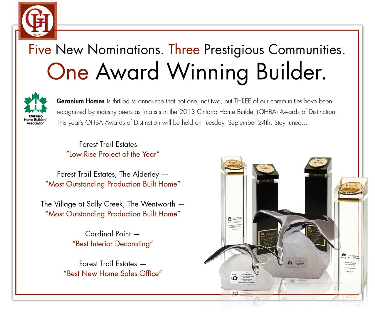OHBA Awards of Distinction