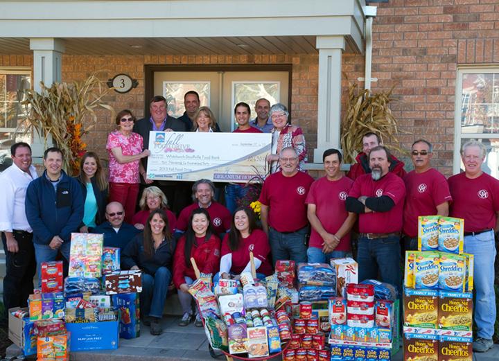 Geranium Homes Food Bank Donation