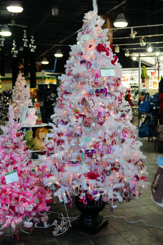 "Fi-Fi as ""every little girls dream"" – a soft pink-coloured tree decked out with ballet slippers, French poodles and feathered birds!"