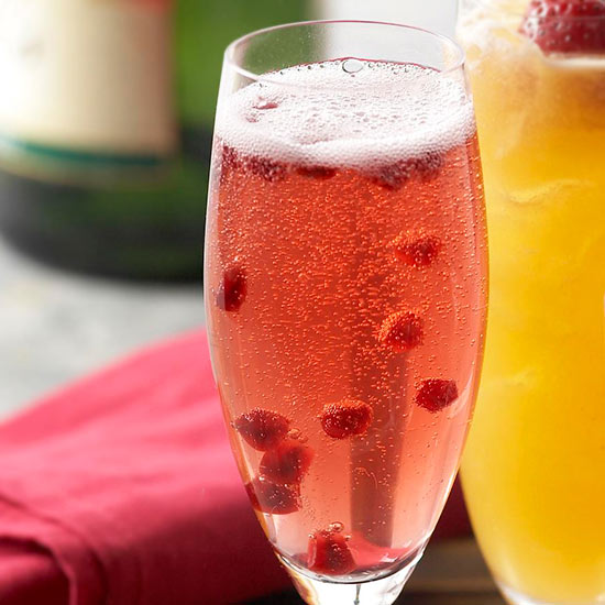 Pomegranate Champagne Cocktail is simple to make.