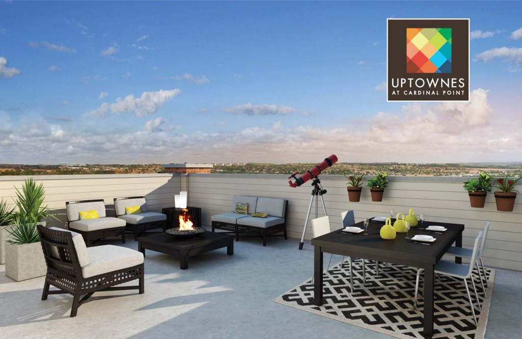 A private Rooftop Terrace is included in every Uptowne home