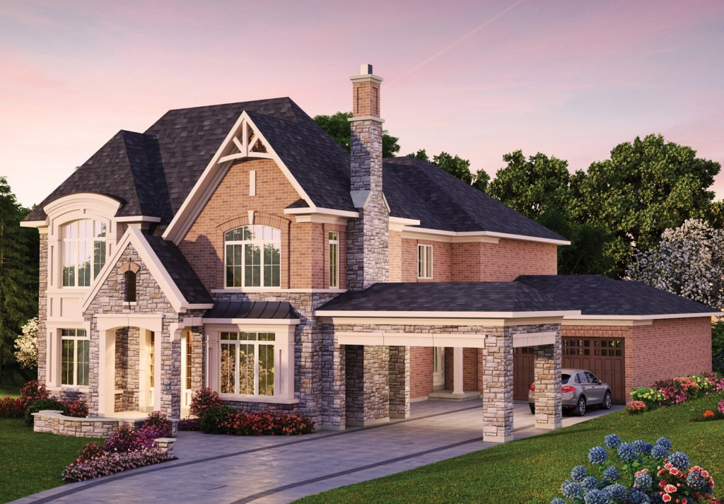 The Porte Cochere provides practicality and curb appeal.