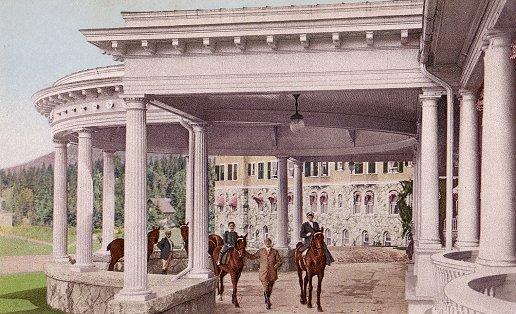 The Porte Cochere at The Mount Washington Hotel, ca. 1910