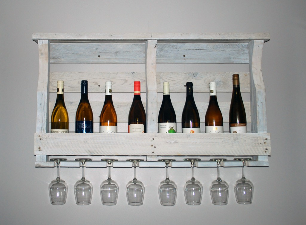 Our homemade Wine Rack