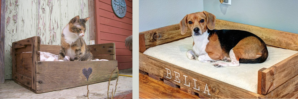 Pallet pet beds for all shapes & sizes