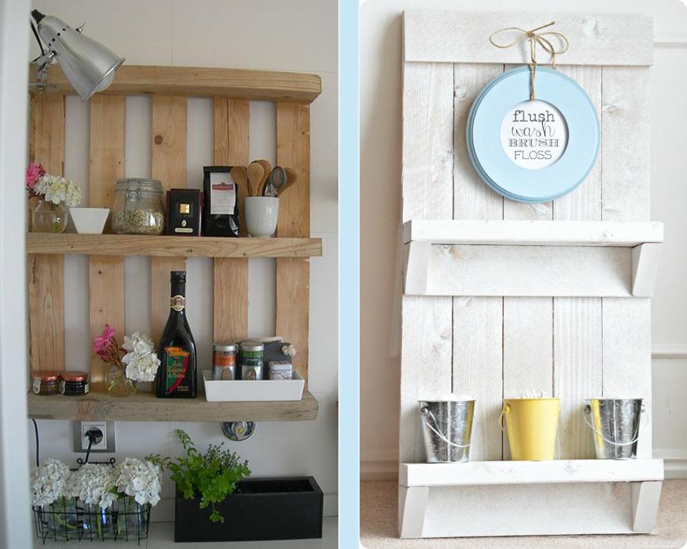 Pallets make great shelves