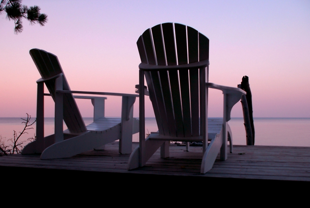 Muskoka Chairs and sunsets the perfect combination