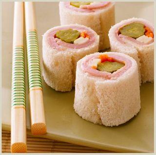 Ham & Cheese Sushi Rolls