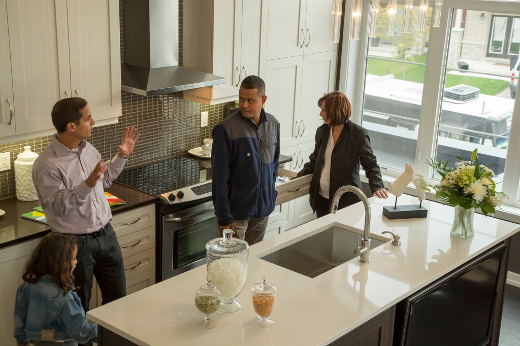 Geranium Homes President Boaz Feiner took part in the Grand Opening weekend.