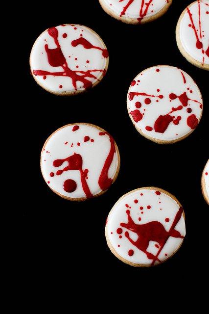 Blood Splatter Cookies
