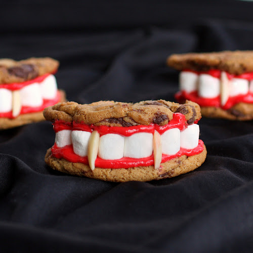 Dracula's Dentures this is one you can make with the kids.