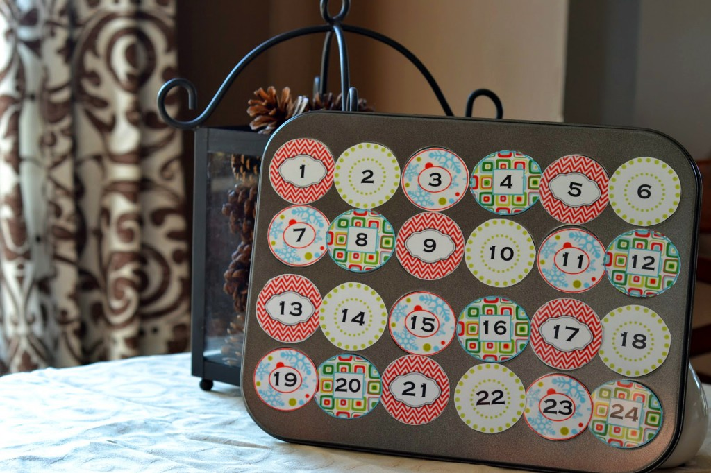 Advent Calendar made from a Muffin Pan - Genius!