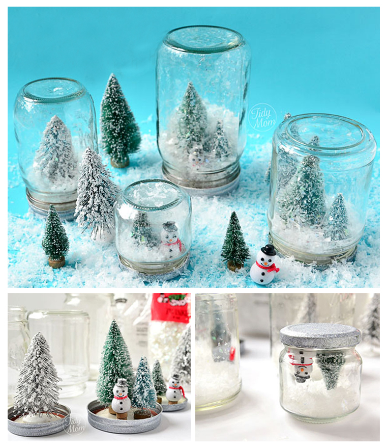 Snow Globes from Mason Jars can be filled with great memories.