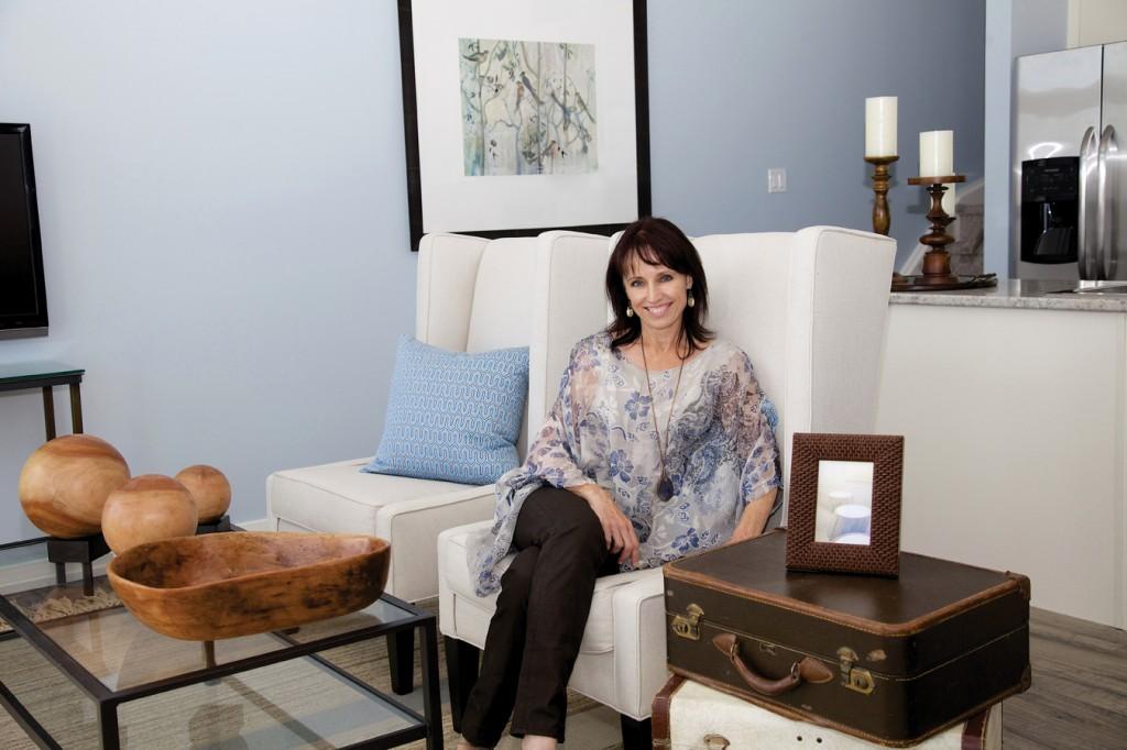 Interior Designer Jo-Ann Capelaci at home in Geranium's Uptownes Model Home