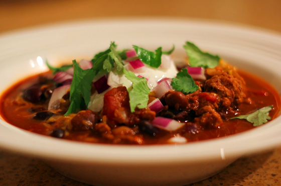 Turkey Chili with the added flavour or Cocoa and Cinnamon