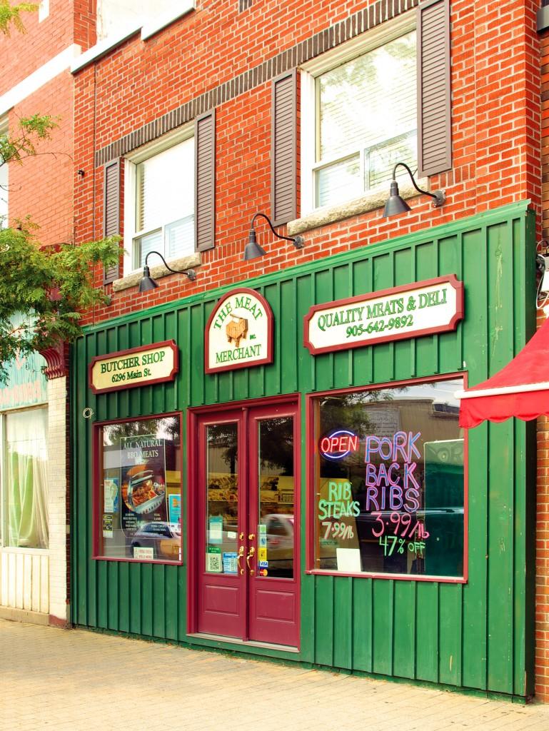The Meat Merchant butcher shop on Main Street