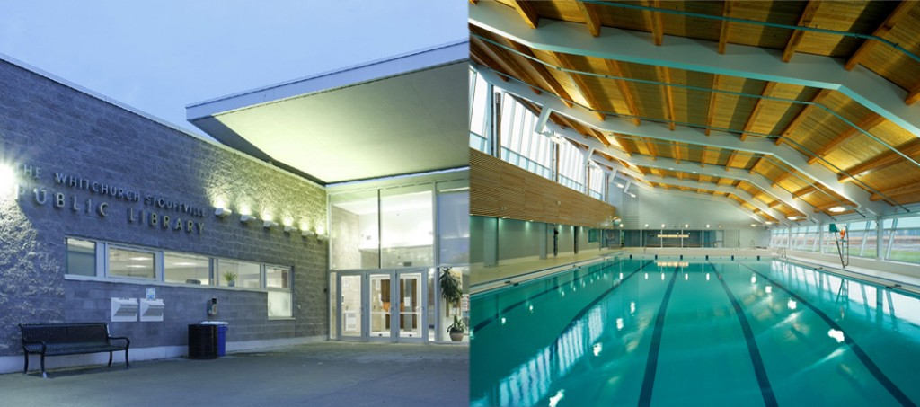 Whitchurch-Stouffville Recreation Centre has a 25 metre accessible indoor pool.
