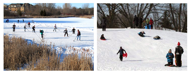 Winter activities abound in the town of Stouffville.