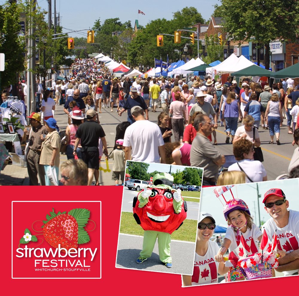 The Annual Stouffville  Strawberry Festival is a much celebrated event.