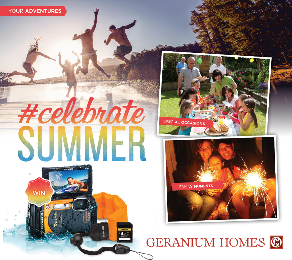#Celebrate Summer Geranium Homes