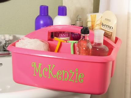 Thanks to Her Campus for this personalized shower caddy