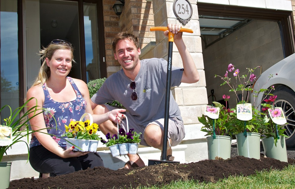 Cardinal Point Homeowners after our Neighbourhood in Bloom event