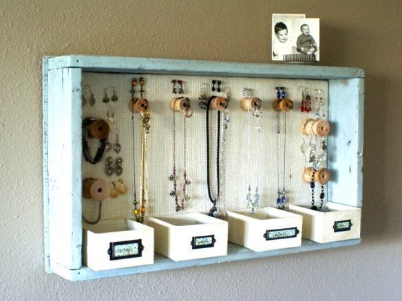 A number of different homemade Jewellery Boxes at Sincerely Yours.