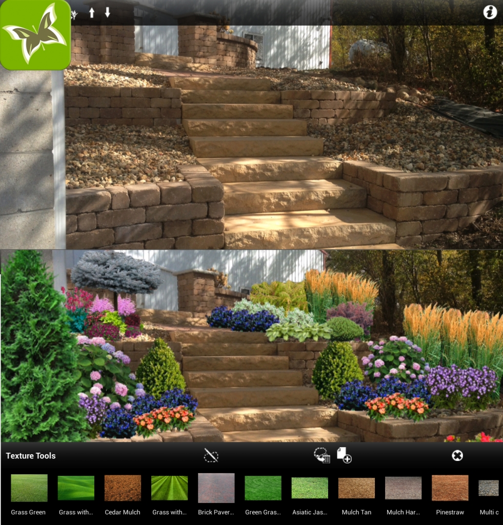 It's easy to transform your garden with the iScape app.