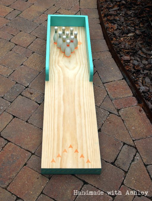 This DIY Bowling Lane from Handmade with Ashley is a fun addition to the backyard.