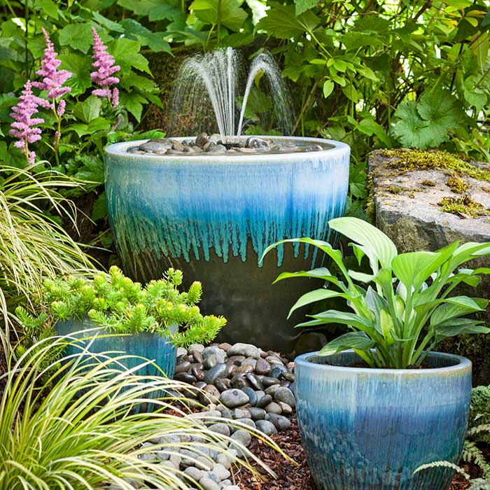 DIY Garden Fountains for every size backyard.