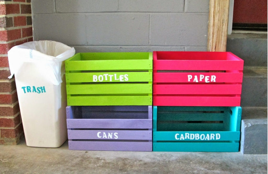 This DIY Recycling Centre is easy to make.