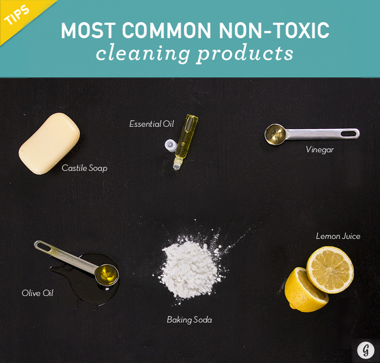 Make your own cleaning products with items you have at home.