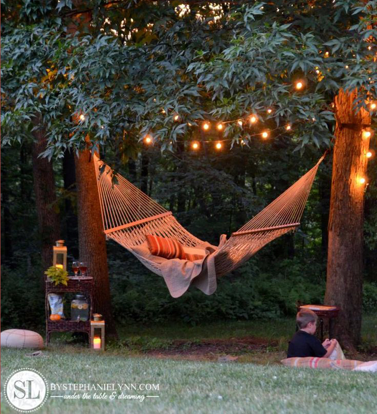 There's nothing like relaxing on a hammock in your beautiful backyard.