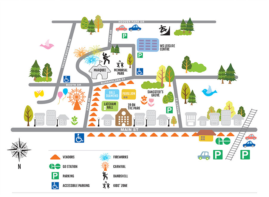 Map courtesy of the Stouffville Strawberry Festival.