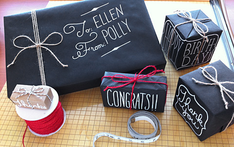 Here's how to give your gifts a chalkboard look.