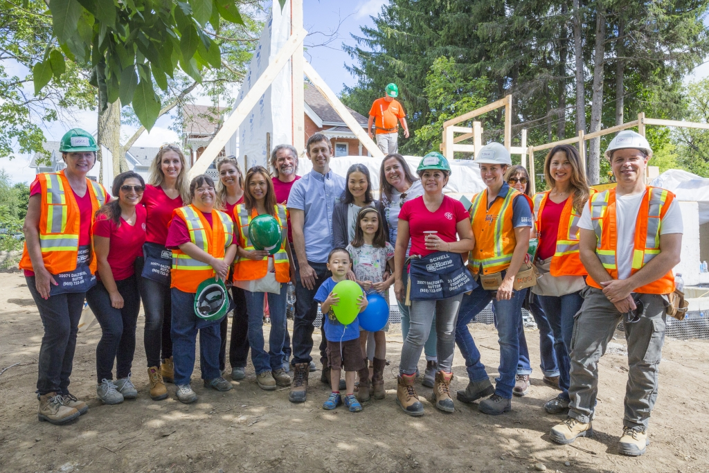 Geranium was proud to be part of Habitat for Humanity's first  Stouffville build.