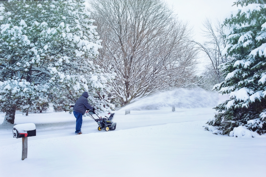 Keep driveway and walkways clear. Don't forget the backyard walkway.
