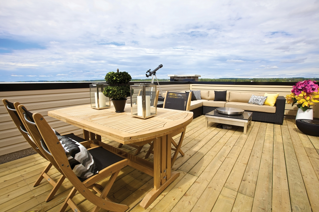 Private terrace from Uptownes at Cardinal Point