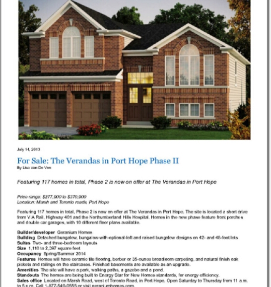 National-Post-_-Life_-For-Sale_-The-Verandas-in-Port-Hope-Phase-II